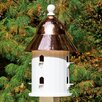 Lazy Hill Farm Bell 27 inch x 17 inch x 17 inch Birdhouse - Finish: Polished Copper - Good Directions Birdhouses
