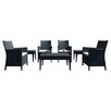 Compamia California Wickerlook 7 Piece Seating Set with Cushion
