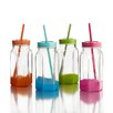 Style Setter Jar with Lid and Straw (Set of 4)