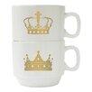 Style Setter Crowns 2 Piece 14 oz. Mug Set