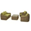 Maze Rattan Milan 4 Seater Sofa Set with Cushions