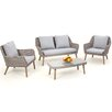 Maze Rattan Paris 4 Seater Sofa Set with Cushions