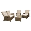 Maze Rattan Winchester 4 Seater Sofa Set with Cushions