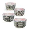 Signature Housewares Print 1 4 Piece Microwave Storage Serving Bowl Set