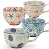 Signature Housewares Coastal 20 oz. Jumbo Cup (Set of 4) (Set of 4)