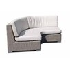 SkyLine Design Pacific Curved Sofa with Cushion