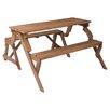 Leisure Season Folding Picnic Table and Bench