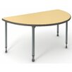 "Paragon Furniture A&D 60"" x 30"" Half Circle Activity Table"
