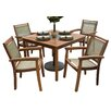 Outdoor Interiors 5 Piece Dining Set