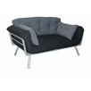 Elite Products Mali-Flex Multi-Positional Twin Futon - Coal/Pewter