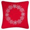 C & F Enterprises Snowflake Cotton Throw Pillow