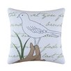 C & F Enterprises Seagull Embroidered Cotton Throw Pillow