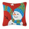 C & F Enterprises Festive Frosty Hooked Cotton Throw Pillow