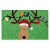 C & F Enterprises Reindeer Green Hooked Area Rug
