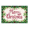 C & F Enterprises Merry Christmas Green and Red Hooked Area Rug
