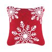 C & F Enterprises Snowflakes Rice Stitch Throw Pillow