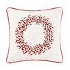 C & F Enterprises Berry Wreath Embroidered Cotton Throw Pillow