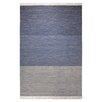 Esprit Handgewebter Teppich Casual in Blau