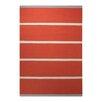 EspritHome Simple Stripe Handwoven Orange Rug