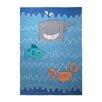 EspritHome Sealife Hand-Tufted Blue Area Rug