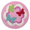 EspritHome Butterfly Hand-Tufted Pink Area Rug
