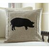 Taylor Linens Pig on Linen Throw Pillow