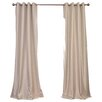 Half Price Drapes Grommet Blackout Faux Silk Taffeta Single Curtain Panel