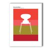 Americanflat Jacobsen Graphic Art in Ant Red