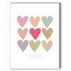 Americanflat Visual Philosophy Love Thee Hearts Graphic Art on Canvas