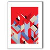 Americanflat Visual Philosophy Mies' Pieces Graphic Art in Red