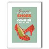 Americanflat Visual Philosophy Marilyn Shoes 3 Graphic Art on Canvas