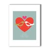 Americanflat Birds One Love Graphic Art on canvas