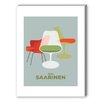 Americanflat Visual Philosophy Saarinen Chairs Graphic Art on Canvas