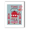 Americanflat Visual Philosophy Time for Tea Vintage Advertisement on Canvas