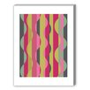 Americanflat Wave Graphic Art in Pink