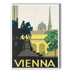Americanflat Vienna Vintage Advertisement Graphic Art on Wrapped Canvas