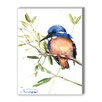 Americanflat Azure Kingfisher Painting Print on Wrapped Canvas