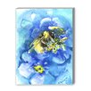Americanflat Bee Painting Print in Blue