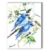 Americanflat Mountain Birds Painting Print on Wrapped Canvas