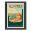 Americanflat World Travel Florence Italy by Anderson Design Group Framed Vintage Advertisement