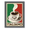 Americanflat Cafe Italiano Framed Vintage Advertisement