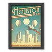 Americanflat Houston Space City Framed Vintage Advertisement