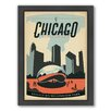 Americanflat Chicago Millenium Park Framed Vintage Advertisement