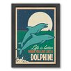 Americanflat Live Like A Dolphin Framed Graphic Art