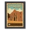 Americanflat San Antonio Framed Vintage Advertisement