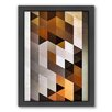 Americanflat Wwwd Blxxx Framed Graphic Art on Canvas