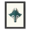 Americanflat Wolf by Christian Jackson Framed Graphic Art