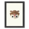 Americanflat Owl Art Framed Graphic Art