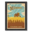 Americanflat Midwest Framed Vintage Advertisement