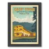 Americanflat Great Smoky Mountain Train Framed Vintage Advertisement